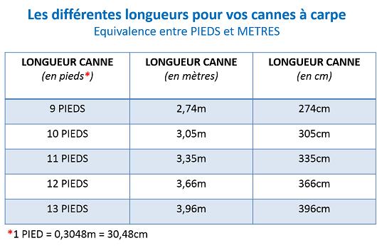 choix longueur canne carpe