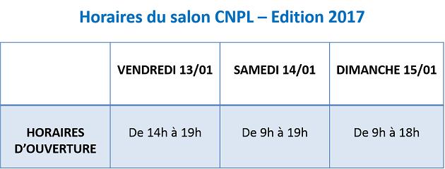 horaires salon peche CNPL