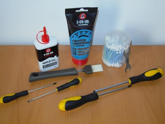 Materiel entretien moulinet