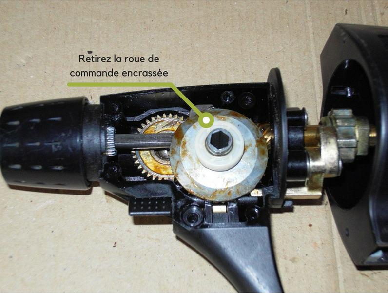Nettoyage mecanisme moulinet