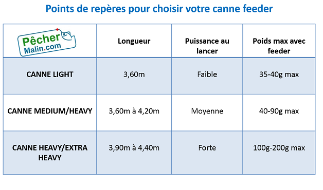 Choix canne feeder carpe